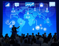 Geschäftskonferenz-Sitzungs-Seminar Team Concept Lizenzfreies Stockfoto