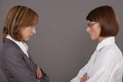 Geschäftskonfrontation Stockfotos