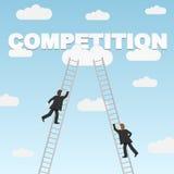 Geschäftskonkurrenz zwischen zwei Geschäftsmännern Stockfotos