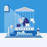 Geschäftskonkurs, Schuldkonzept-Vektorillustration lizenzfreie abbildung