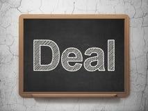 Geschäftskonzept: Abkommen auf Tafelhintergrund stock abbildung