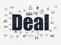Geschäftskonzept: Abkommen auf Wandhintergrund stock abbildung