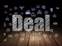 Geschäftskonzept: Abkommen in der Schmutzdunkelkammer stock abbildung