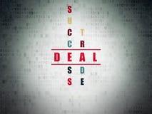 Geschäftskonzept: Abkommen im Kreuzworträtsel stock abbildung