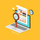 Geschäftskonzept 3d isometrisches infographic Stockfoto