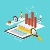Geschäftskonzept 3d isometrisches infographic Stockfotos