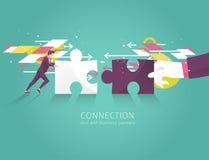 Geschäftskonzept der Lösung, der Partnerschaft, der Zusammenarbeit und der Unterstützung stock abbildung