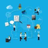 Geschäftskonzept der Teamwork Stockbild