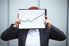 Geschäftskonzept des Erfolgs und des Wachstums Ein erfolgreicher Frauenchef, Stockfotos
