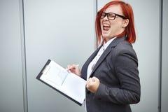 Geschäftskonzept des Erfolgs und des Wachstums Ein erfolgreicher Frauenchef, Lizenzfreie Stockfotografie