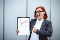 Geschäftskonzept des Erfolgs und des Wachstums Ein erfolgreicher Frauenchef, Lizenzfreie Stockbilder