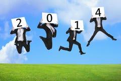 Geschäftskonzept des neuen Jahres 2014 Stockfotografie