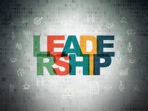 Geschäftskonzept: Führung auf Digital-Daten-Papierhintergrund stock abbildung