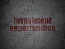 Geschäftskonzept: Günstige Möglichkeiten der Geldanlage auf Schmutzwandhintergrund Stockbilder