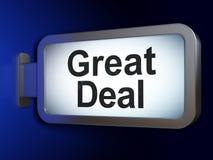 Geschäftskonzept: Großes Abkommen auf Anschlagtafelhintergrund vektor abbildung
