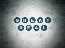 Geschäftskonzept: Großes Abkommen auf Digital-Daten-Papierhintergrund stock abbildung