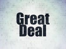 Geschäftskonzept: Großes Abkommen auf Digital-Daten-Papierhintergrund lizenzfreie abbildung