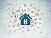 Geschäftskonzept: Haus auf Digital-Papierhintergrund Stockfoto