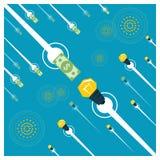 Geschäftskonzept Idee und Geld Stockbilder