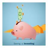 Geschäftskonzept Ideen-Einsparung und Investition Stockbild