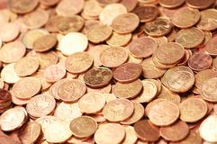 Geschäftskonzept - Münzen lizenzfreie stockfotografie