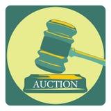 Geschäftskonzept mit Auktionszeichen Lizenzfreie Stockfotografie