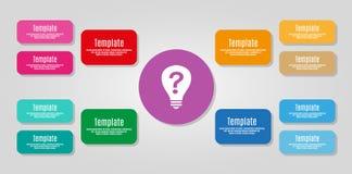 Geschäftskonzept mit Wahlen, Teilen, Schritten oder Prozessen Lizenzfreies Stockfoto