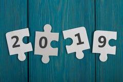 Geschäftskonzept - Puzzlespielstücke mit Text stockfotos