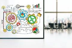 Geschäftskonzept-Skizzeninnenraum Lizenzfreies Stockfoto