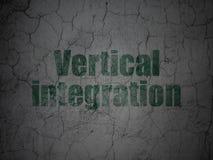 Geschäftskonzept: Vertikale Integration auf Schmutzwandhintergrund lizenzfreies stockfoto
