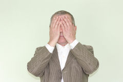 Geschäftskonzept von Blindheit unwissenheit Lizenzfreie Stockfotos