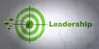 Geschäftskonzept: Ziel und Führung auf Wandhintergrund lizenzfreie abbildung