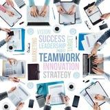Geschäftskonzepte und -team bei der Arbeit Stockfotografie