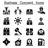 Geschäftskonzeptikonen Stockbilder
