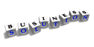 Geschäftslösung lizenzfreie abbildung