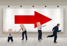 Geschäftslösungsreklameanzeige stockfoto