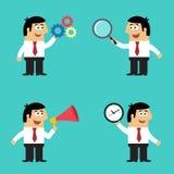 Geschäftslebenangestellter mit Bürogeräten Lizenzfreie Stockbilder