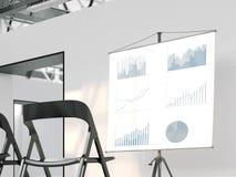 Geschäftslektion in einem Dachbodenraum Wiedergabe 3d Lizenzfreies Stockfoto