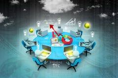 Geschäftsleute Arbeiten Lizenzfreie Stockfotos