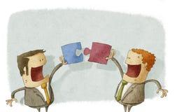 Geschäftsleute arbeiten zusammen Lizenzfreies Stockbild