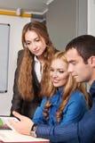 Geschäftsleute auf einer Sitzung Lizenzfreies Stockfoto