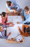 Geschäftsleute auf einer Sitzung Lizenzfreie Stockfotografie