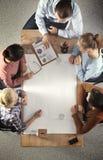 Geschäftsleute auf einer Sitzung Stockfotos