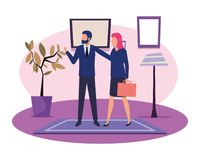 Geschäftsleute Avatarazeichentrickfilm-figur lizenzfreie abbildung
