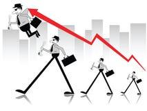 Geschäftsleute in Bewegung lizenzfreie abbildung
