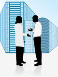 Geschäftsleute bilden Abkommen stock abbildung