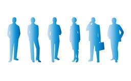 Geschäftsleute blauer Symbolikonen-Satz Stockbilder
