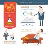Geschäftsleute Charakter-Gestaltungselement- Lizenzfreie Stockbilder
