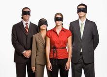 Geschäftsleute in den Augenbinden Stockfotografie