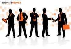 Geschäftsleute in den verschiedenen Haltungen vektor abbildung